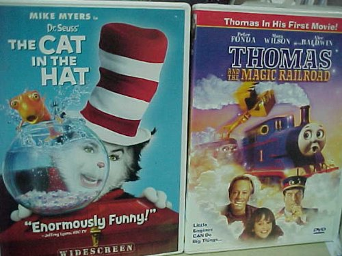 The Cat in the Hat , Thomas and the Magic Railroad : Family Movie Night 2 Pack Collection
