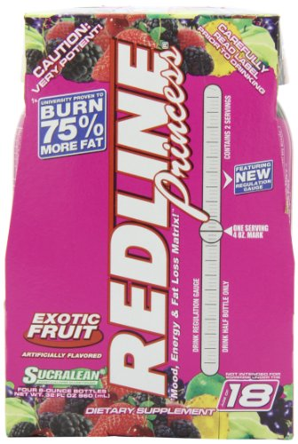 - VPX REDLINE Princess Energy and Fat Loss RTD Beverage, Exotic Fruit, 8-Ounce Bottles (Pack of 24)