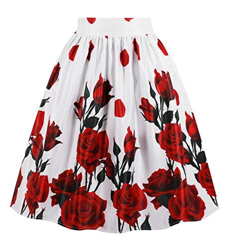 Jupes Rose Line Poche Longues vases Imprimes Floral Femmes FASHION A DJT mi 8ZBRSqZ