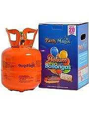 PartyMagix Heliumgasfles heliumgas voor 20 en 30 ballonnen helium fles gasfles ballon gas ballongas wegwerp