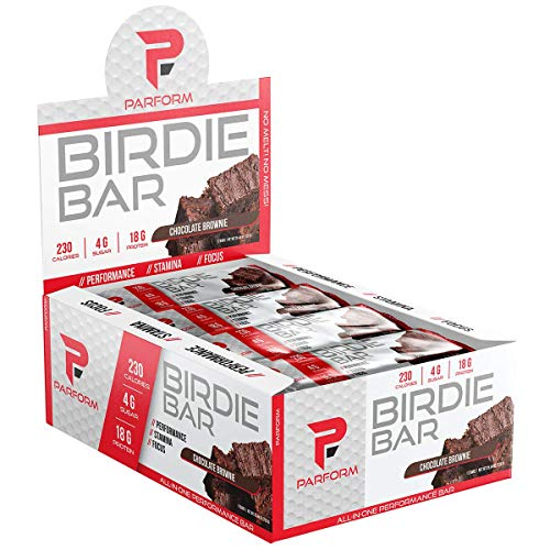 Parform Birdie Bar | High Protein Bar | All-In-One Performance Nutrition Bar | 230 Calories, 4g of Sugar & 18g of Protein | (12 Bars, Chocolate Brownie)