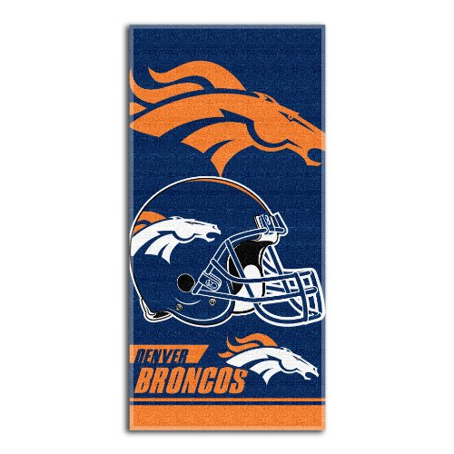 Towel Northwest Beach - NFL Denver Broncos Double Covered Beach Towel, 28 length x 58 breadth x 0.06 height