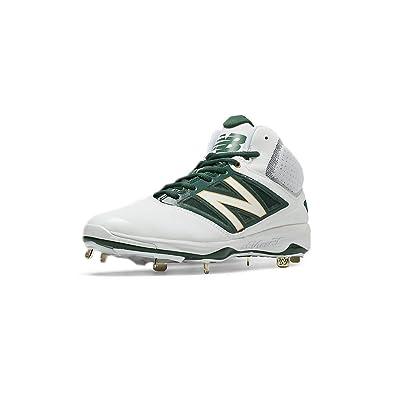 4a854648f9d71 New Balance MidCut 4040v3 Mens Cushioning Metal Baseball Cleat 7 White-Green