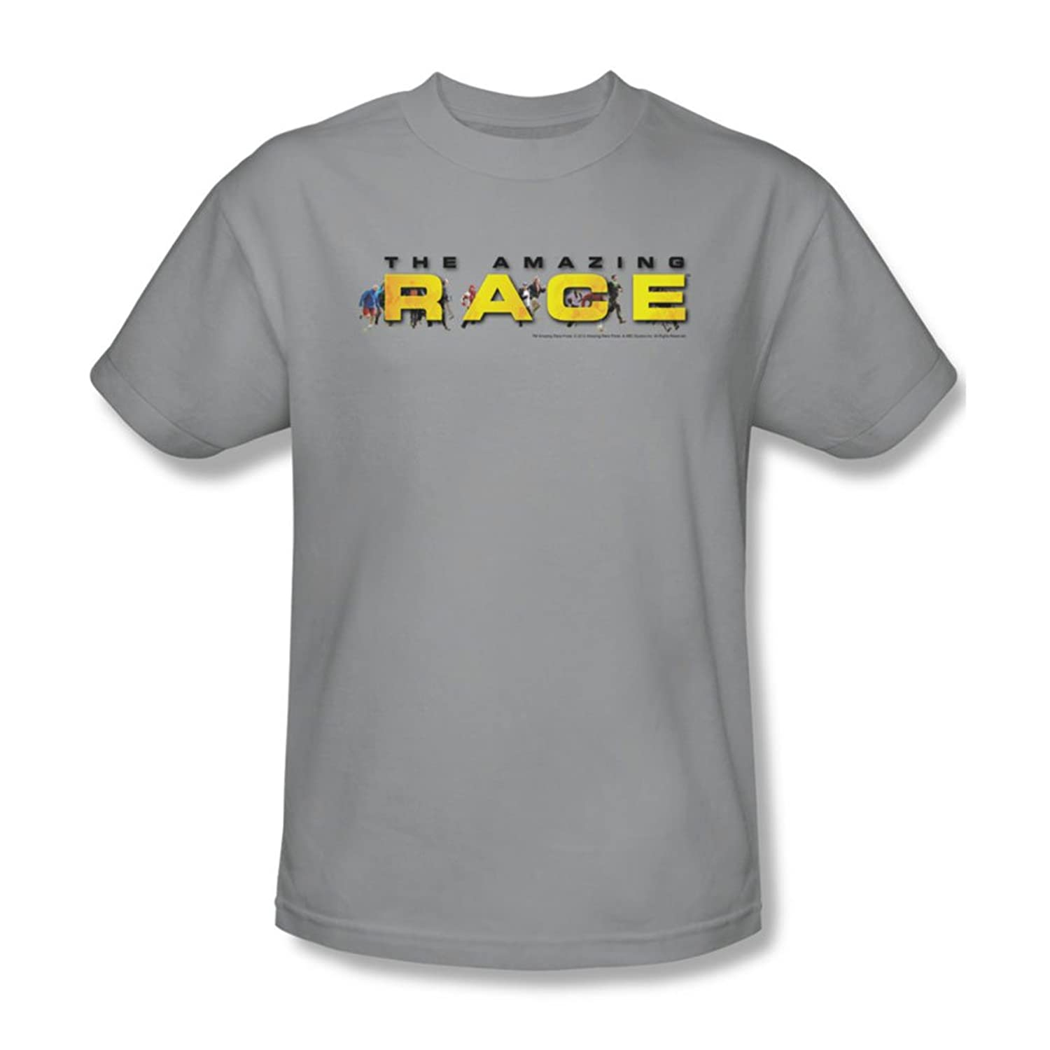 Amazing Race - Mens Running Logo T-Shirt In Silver