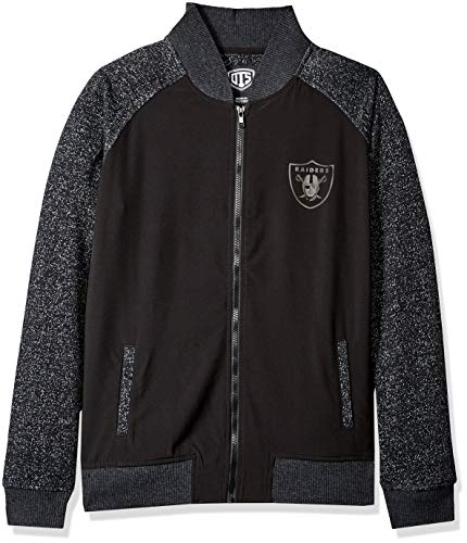 Oakland Athletics Track Jacket - NFL Oakland Raiders Female OTS Mia Jacket, Jet Black, Small