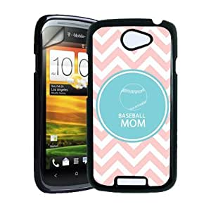 Baseball Mom Baby Pink Zig Zag Circle Hipster HTC One S Case - Fits HTC One S