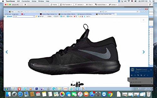 Nike Herre Zoom Assersion Sort / Sort / Antracit Basketball Sko 6FLwg