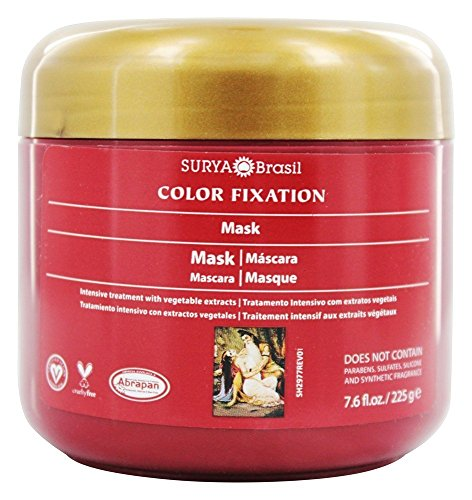 Surya Brasil Color Fixation Restorative Mask, For Color Treated or Dry Hair 7.94 Ounces