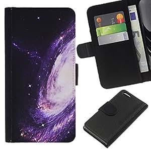 iBinBang / Flip Funda de Cuero Case Cover - Camino púrpura Espacio Universo Cosmos - Apple iPhone 5C