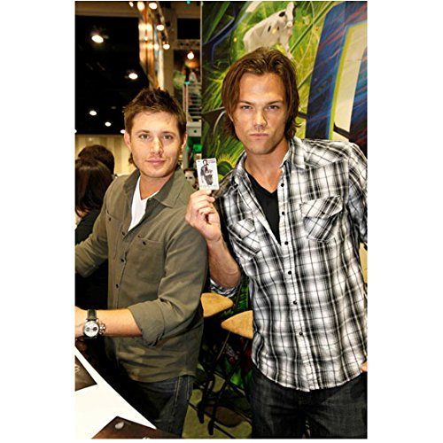Supernatural (TV Series 2005 - ) 8 inch x10 inch Photo Jensen Ackles & Jared Padalecki Being Goofy While Signing Autographs kn