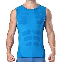 MASS21 Mens Compression Tops Short Sleeve Baselayer Cool Dry Sport Running Workout Shirt