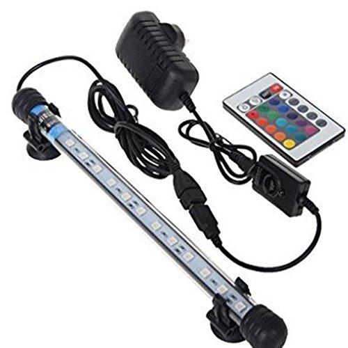 Glighone Lámpara de Acuario 24 LED 5W 12 RGB Color Luces para Peceras y Estanques Luz para Plantas Sumergible Luces para Peceras y Estanques, ...