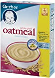Gerber Cereal, Oatmeal Single Grain, 16-Ounce Boxes (Pack of 6)