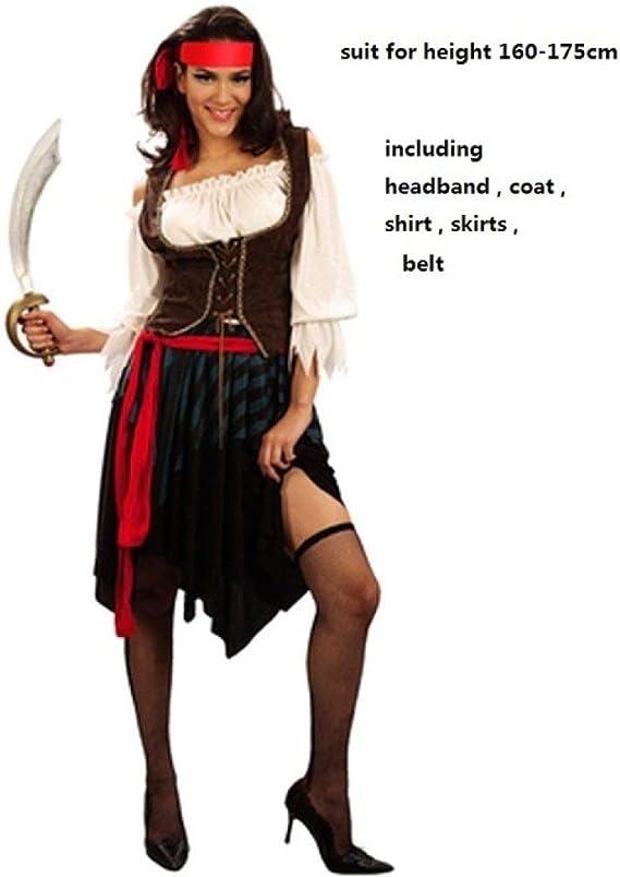 QLQGY capitán Piratas Caribe Jack Sparrow Fantasía Pirata Cosplay ...