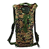 OCSOSO 3L Camouflage Hydration Bladder Water Bag Pouch Backpack Hiking Climbing Survival Outdoor