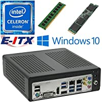 E-ITX ITX350 Asrock H270M-ITX-AC Intel Celeron G3930 (Kaby Lake) Mini-ITX System , 4GB DDR4, 960GB M.2 SSD, WiFi, Bluetooth, Window 10 Pro Installed & Configured by E-ITX