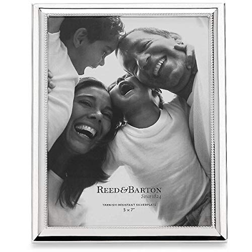 "Reed & Barton Capri Silver Plate Frame, 5"" x 7"""