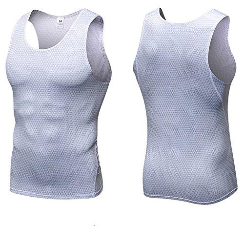 Ad RapidacoloreRossoDimensione MBianca Fitness Running Uomo Maniche Asciugatura Senza Vestitino Per Allenamento Da LR4j5A3