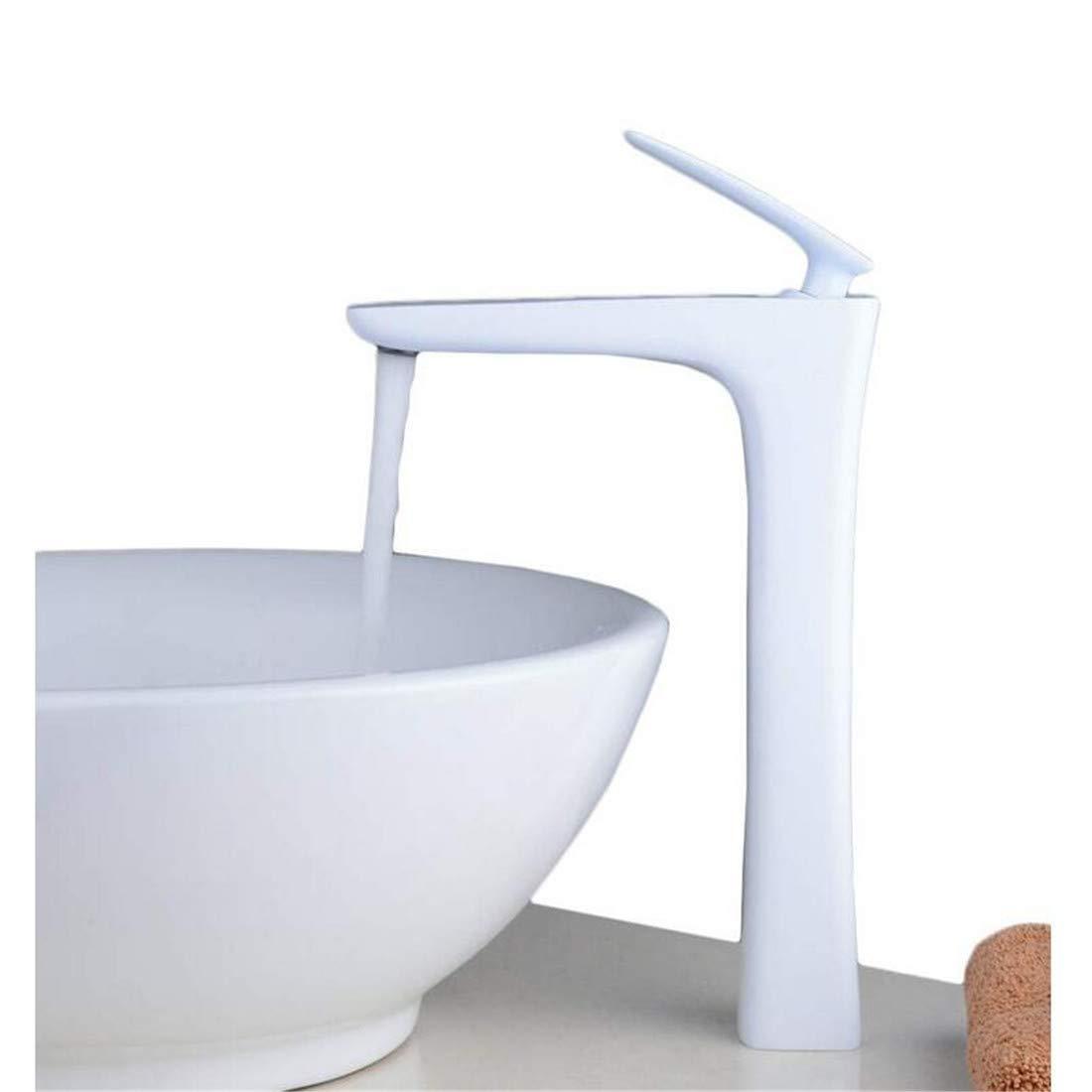Wasserhahn Moderner Luxus Mischer Hahn Badewannenarmaturen Mixer Weiß Counter Top Sink Tap Einzigartige Bad Mono Becken Wasserhahn