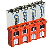 4 Energizer 9V Advanced Lithium Batteries LA522 With Powerpax 9 Volt Battery Cady