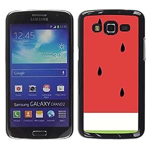 FECELL CITY // Duro Aluminio Pegatina PC Caso decorativo Funda Carcasa de Protección para Samsung Galaxy Grand 2 SM-G7102 SM-G7105 // Minimalist Red Fruit