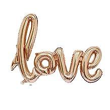 Coscelia Ligatures LOVE Letter Foil Balloon Anniversary Wedding Valentines Party Decoration Balloon (Champagne)