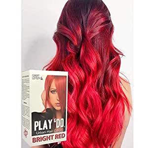 Play 'Do Urban Hair Color Bright Red 180 ml, Revolutionary Hair color cream, Permanent hair color, Hair dye, Highlights