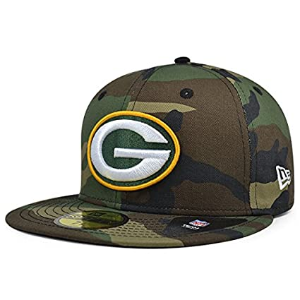 e62cacae New Era Green Bay Packers NFL Woodland Camo 59Fifty Fitted Hat