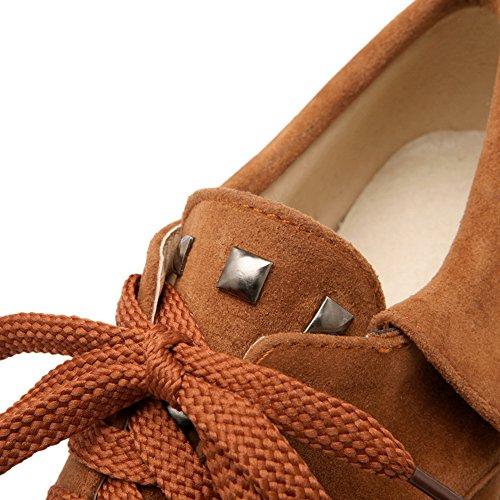 Balamasa Ladies Fasciatura Rialzata Allinterno Di Scarpe Basse In Pelle Scamosciata Tinta Unita
