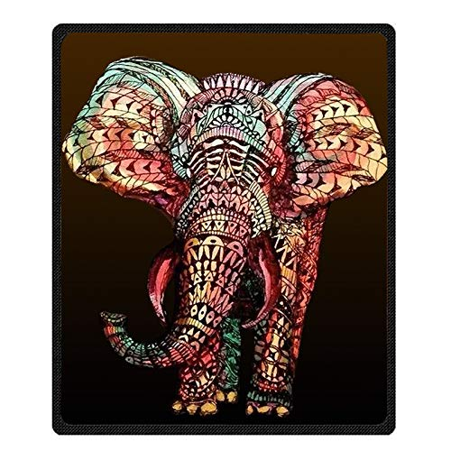 BEEBEE Printing Elephant Velvet Plush Throw Blanket Bed Blankets Super Soft and Cozy Fleece Feeling Blanket for Travelling 58