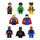 8pcs/lot New Hot Super Heroes Avenger Kid Baby Toy Mini Figure Building Blocks Sets Model Toys Minifigures Brick