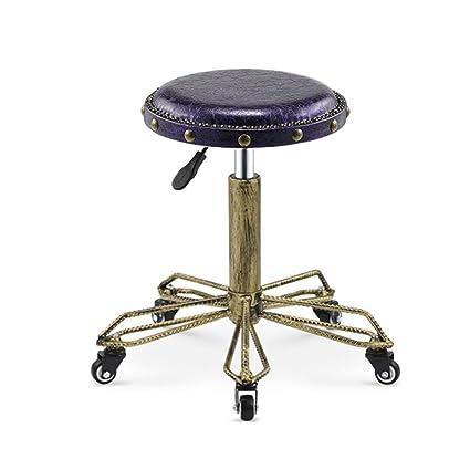 Pleasing Amazon Com Retro Rivet Industrial Style Salon Stool Ncnpc Chair Design For Home Ncnpcorg