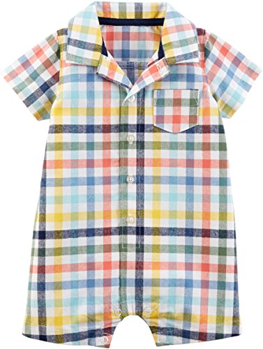 Carter's Baby Boys' Plaid Polo Romper 9 Months