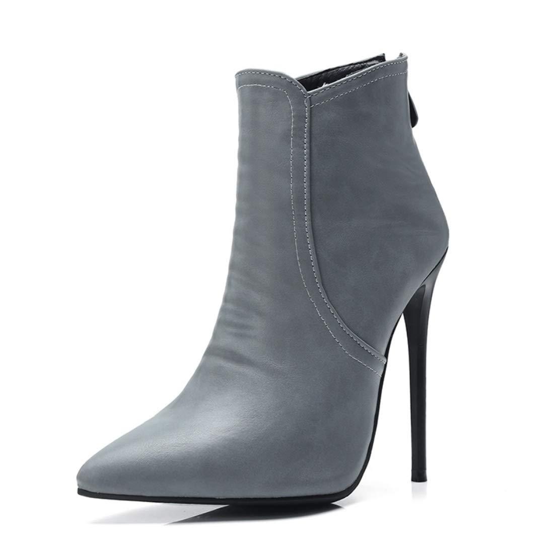 DANDANJIE Damens Es Ankle Stiefel Fashion Stiefel Winter Stiefel Stiletto Heel Geschlossene Zehen-Stiefelies