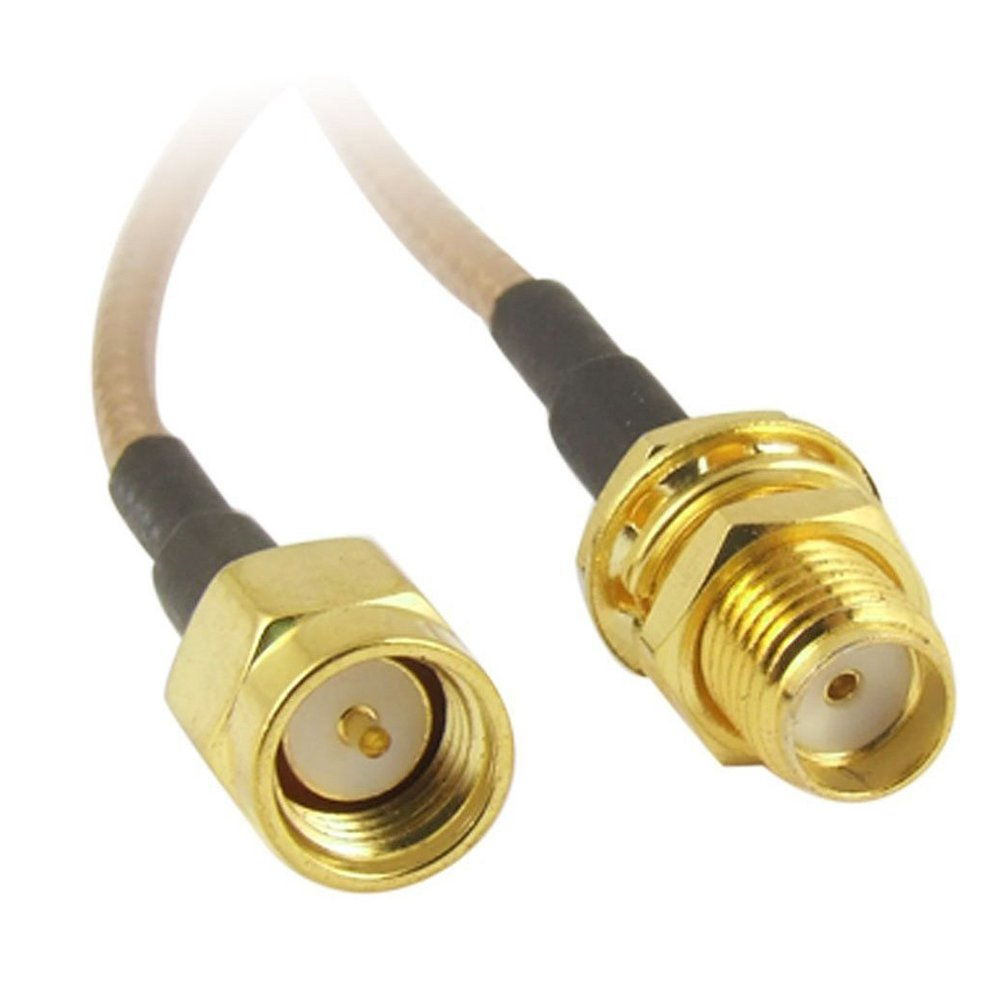 Amazon.com: TOOGOO(R) Pack of 2 RF RG316 SMA Male to SMA Female Nut Bulkhead Crimp Antenna Low Loss Coaxial Cable 6 inch (15cm): Home Audio & Theater