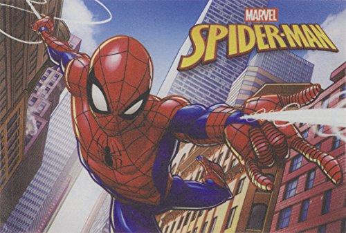 Tapete Linha Digital Marvel Spider Man Em Ação 40 X 60 Cm Jolitex Vermelho Médio