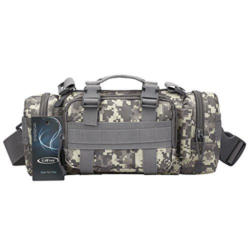G4Free Deployment Bag Versatile Tactical Waist Pack,Hand Carry Camping Military Style Rucksack(ACU)