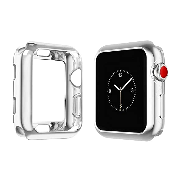 cheaper 9fdcf ccfd4 top4cus Environmental Soft Flexible TPU Anti-Scratch Lightweight Protective  42mm Iwatch Case Compatible Apple Watch Series 4 Series 3 Series 2 Series  ...