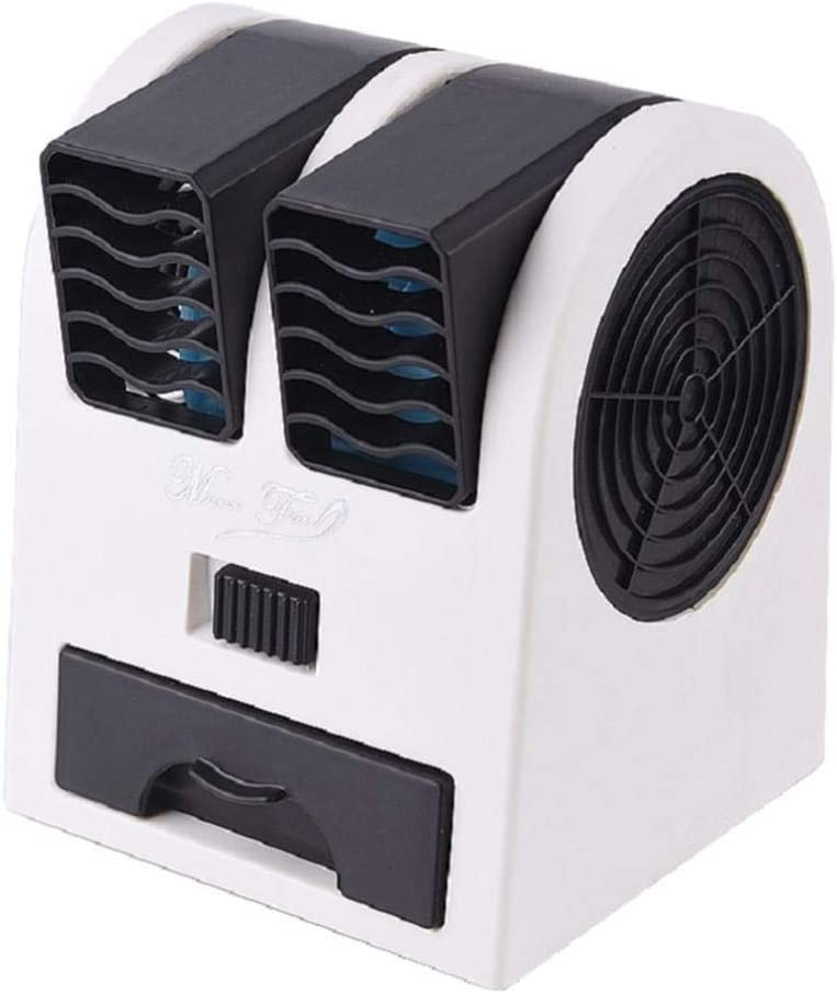 Mini Fan 2 Ports Mini Fan Adjustable Angles Dual Air Outlet Air Conditioning Fan Cooling for Home Office Dormitory