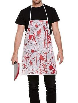 KIRALOVE Delantal Manchado de Sangre - Carnicero - Asesino ...