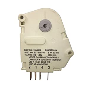 MAYITOP Defrost Timer 8HR 30MIN for Frigidaire Refrigerator 215846602, AP2111929, PS423801