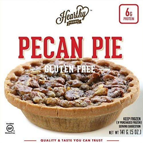 Hearthy Foods Pecan Pie, Gluten Free, Five Ounce Pies, Two Servings a Piece, Six Pack