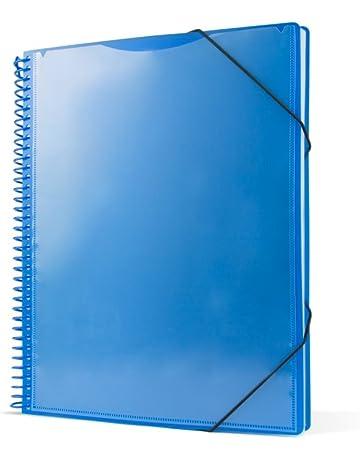 Pryse 4240052 - Carpeta espiral con 50 fundas, A4, color azul