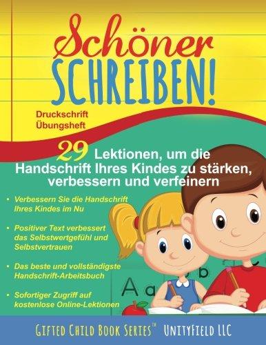 Schner Schreiben!: Druckschrift bungsheft (German Edition)