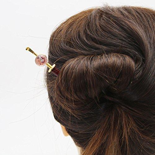 Tamarusan Hair Pin Wooden Plum Green Decoration Removal Hair Stick by TAMARUSAN (Image #3)