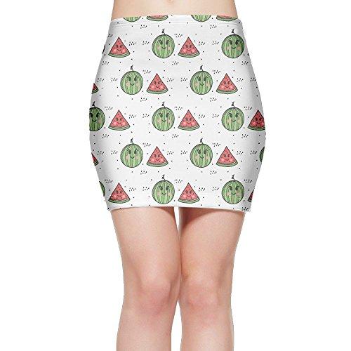 Tightslady Women's Sexy Party Mini Skirt Cute Watermelon