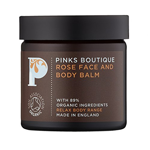 Pinks Boutique Rose Face and Body Balm 1.8 oz. (50 g) - Dry Skin Moisturizing Cream - Organic Shea Butter - Spa Balm Active