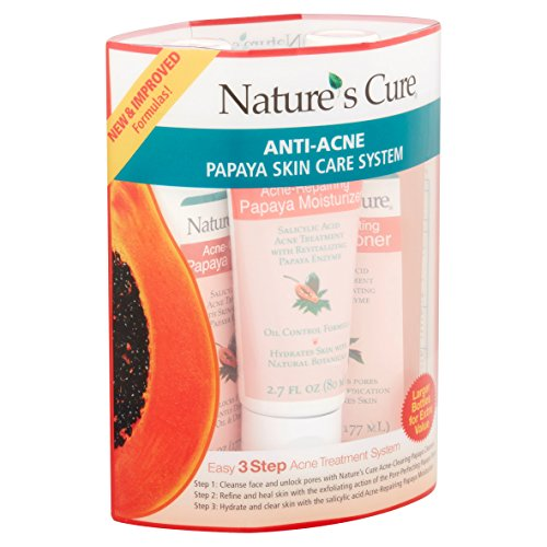Nature's Cure Anti-Acne Skin Care System Kit, Papaya