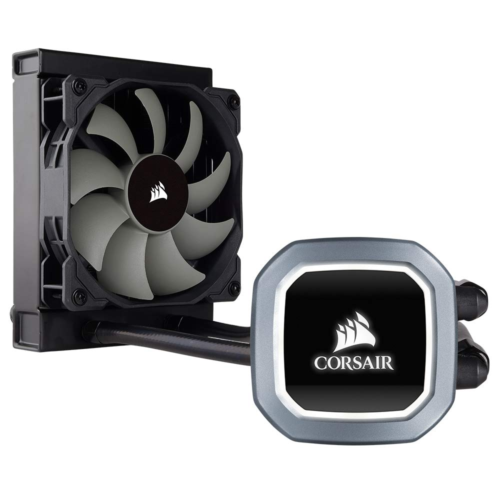 CORSAIR Hydro Series H60 AIO Liquid CPU Cooler, 120mm Radiator, 120mm SP Series PWM Fan