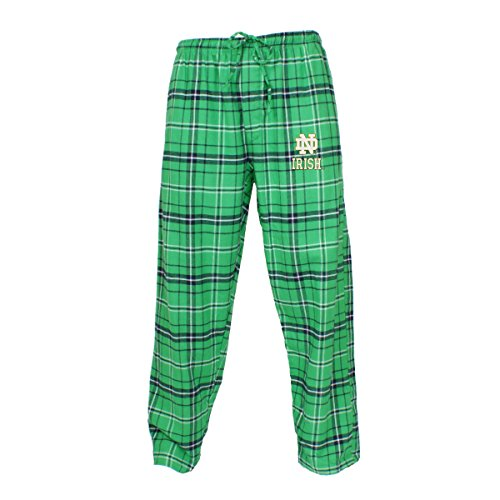 Concepts Sport Men's NCAA Ultimate Flannel Pajama Pants with Logo-Notre Dame Fighting Irish-Kelly Green-Large ()